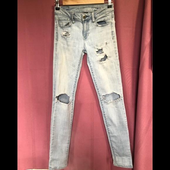 American eagle -super stretch light blue jeans